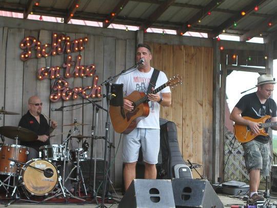 Joel Brown and his band performed Saturday night at