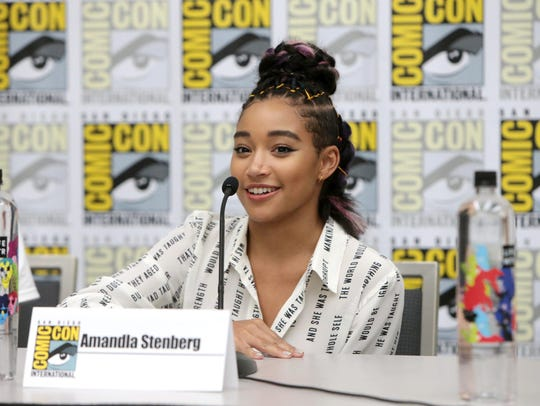 "Amandla Stenberg discusses her new movie ""The Darkest Minds"" during a page-to-screen panel at geek-culture extravaganza Comic-Con."