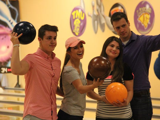 "From left, Evan Stewart, Carlin Bates, and Bobby and Tori (Bates) Smith spend time together on an episode of ""Bringing Up Bates."""