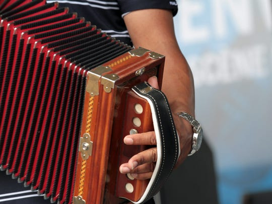 Terry Domingue of Terry and the Zydeco Bad Boys plays