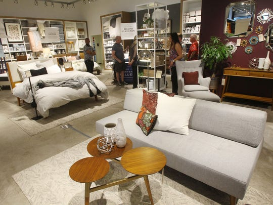 The much anticipated West Elm - the first completed store part of Wessman's downtown rehabilitation project - opens in Palm Springs.