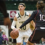 CSU's Hannah Tvrdy, shown in a game earlier this season, hit three first-half 3-pointers to help the Rams blast Boise State on the road Wednesday.
