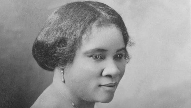 Madame C. J. Walker, the nation's first self-made black female millionaire.