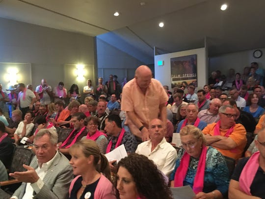 A large crowd came out to Palm Springs City Hall Wednesday, Oct. 26 for a special City Council meeting to discuss vacation rentals.