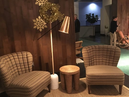 Gathering nooks in the newly designed lobby in the