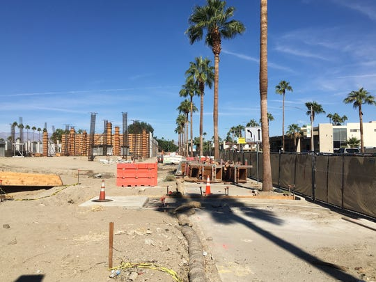 The Andaz Hyatt construction site in Palm Springs.