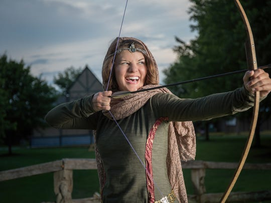 """Maggie Rader stars in the title role of Adam Szymkowicz's """"Marian, or the True Tale of Robin Hood."""""""