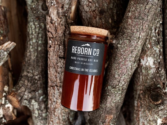 Reborn Co soy candles, hand-poured in the Ozarks, are