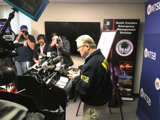 NTSB chairman Robert S  Sumwalt holds a press conferences