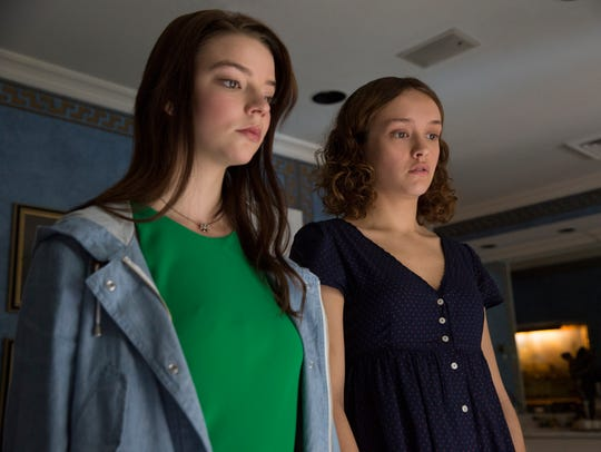"Anya Taylor-Joy (left) and Olivia Cooke star in ""Thoroughbreds."""