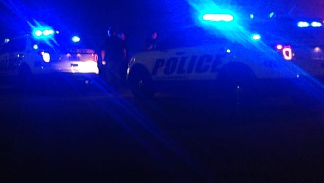 A man sustained a gunshot wound late Sunday night after someone in a car fired and then fled the scene, according to police.