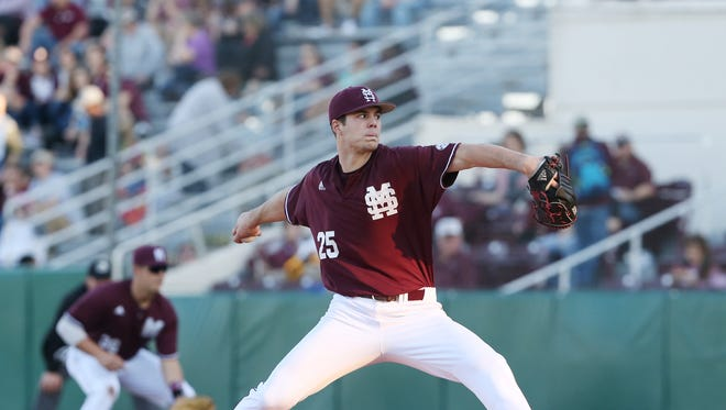 Mississippi State pitcher Dakota Hudson finished with career-highs six innings pitched and nine strikeouts on Friday.