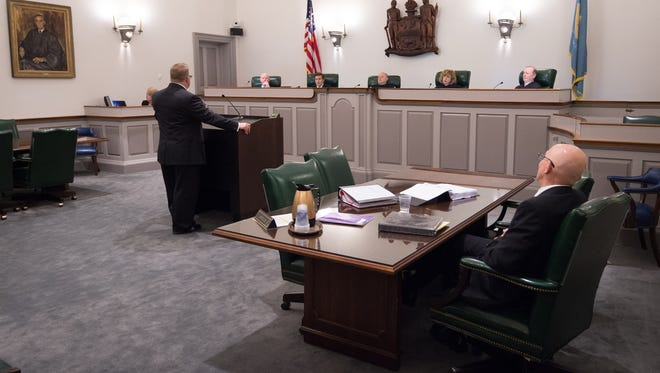 The Delaware Supreme Court in Dover hears the arguments in the State versus Isaiah McCoy case. The state was arguing that Isaiah McCoy should be held in solitary confinement while awaiting his retrial.