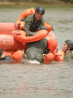 Airmen will practice boarding one-man and 20-man life rafts, helicopter extraction and other long-term survival skills.