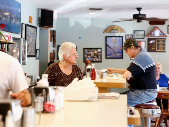 Jeannie Nicolakis, owner of Sparky's Diner in Garnerville.