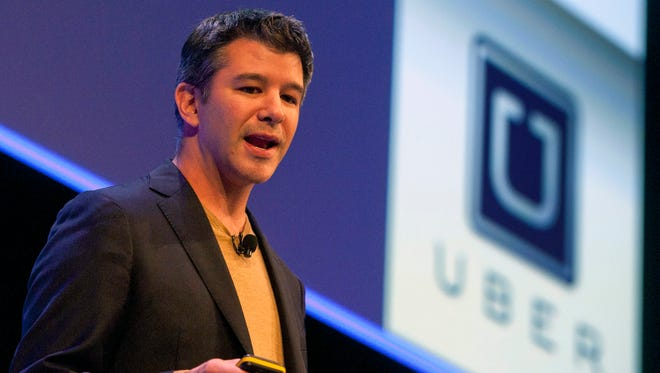 Travis Kalanick, Founder and CEO of Uber, delivers a speech at the Institute of Directors Convention at the Royal Albert Hall, Central London, Britain, on October 3, 2014.