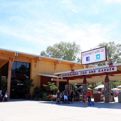 The main entrance to Riverbanks Zoo and Garden offers restrooms, gift shop and stroller rental.