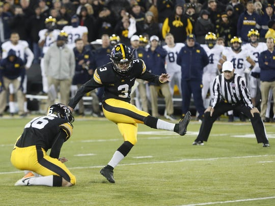 Three years before he would be a Lou Groza Award finalist, Keith Duncan was a true freshman walk-on in 2016 and knocked through this 33-yarder to beat 9-0 Michigan as time expired.