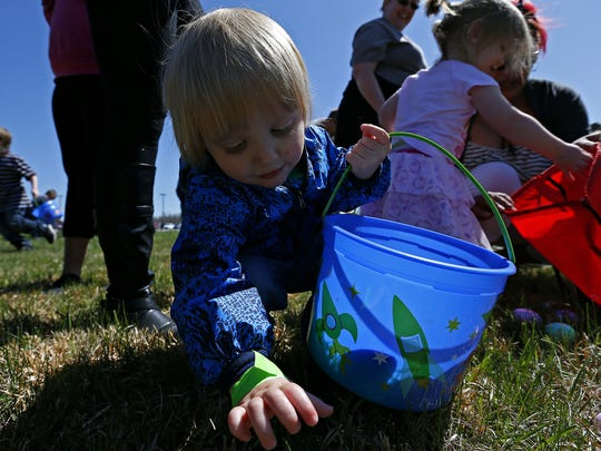 Kids can enjoy Easter egg hunts around the Ozarks on March 19, including hunts at Rutledge Wilson Farm, Ozark and Republic.