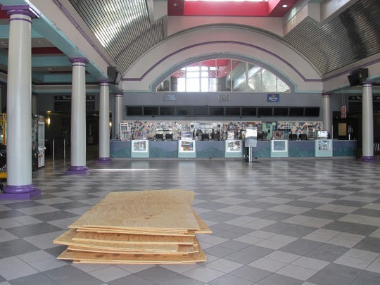 An empty Hollywood 20 movie theater off Naples Boulevard in North Naples remains temporarily closed because of damage from Hurricane Irma.