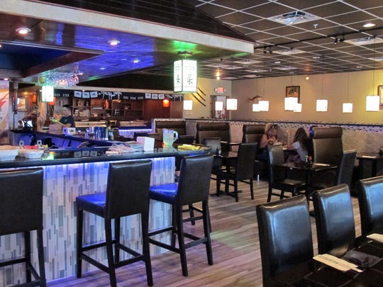 The newly remodeled dining room at Hibachi of Japan,