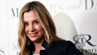 Mira Sorvino, a cast member in 'Mothers and Daughters,' poses at the premiere of the film in West Hollywood on April 28, 2016.