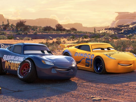 Both Lightning McQueen (voiced by Owen Wilson) and