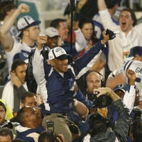 """The biggest win in Indianapolis Colts' history: a 38-34 rally over New England in the 2006 AFC Championship Game. """"It's our time,"""" Dungy told his players at halftime."""