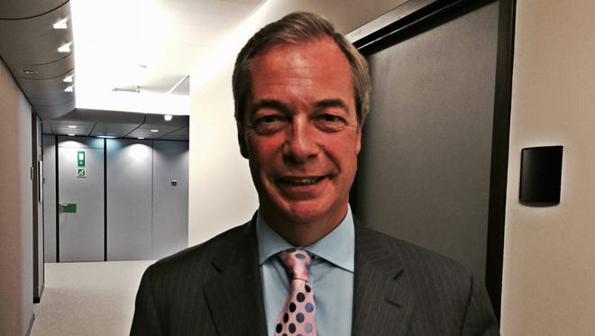 Nigel Farage in Brussels on July 12.