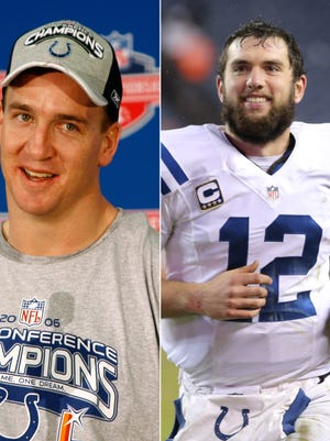 Is Andrew Luck on his way to repeating what Peyton Manning did with the Colts in the 2006 postseason?