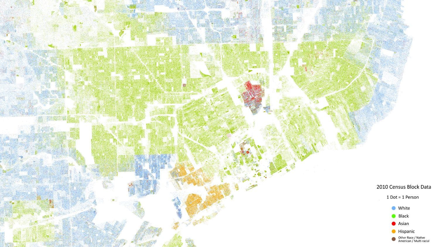 Map shows just how segregated metro Detroit is