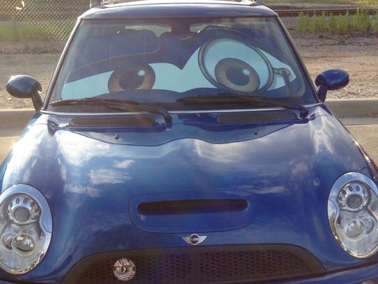 """Mini decorated as cartoon character """"Brum"""" was the"""
