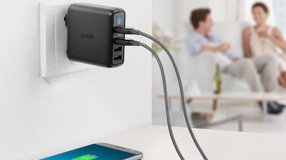 Charge multiple devices at once—and fast.