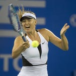 Sharapova was leading Barbora Strycova 7-6 (1), 6-7 (4), 2-1 when she decided to stop at the Wuhan Open.