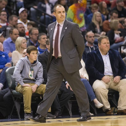 Frank Vogel, Head Coach of Indiana, Bankers Life Fieldhouse,