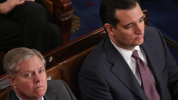 Lindsey Graham and Ted Cruz in the House Chamber at