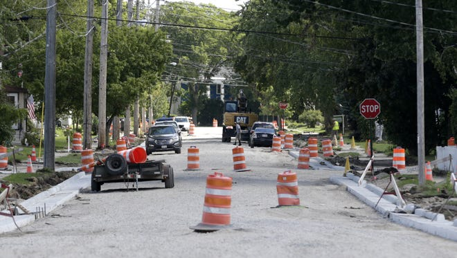 Neenah might turn to a transportation fee, rather than special assessments, to pay for street reconstruction projects like this one on East Franklin Avenue.