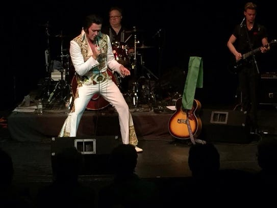 Anthony Shore as Elvis Presley. He tries to capture