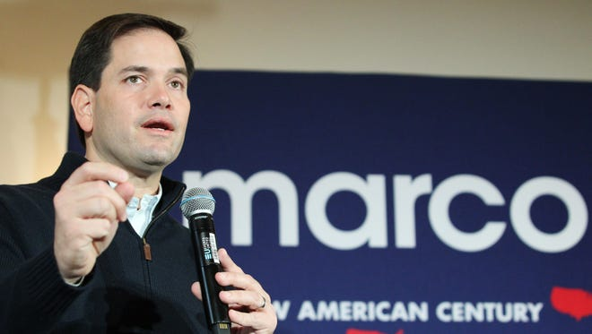 Republican presidential candidate Sen. Marco Rubio, R-Fla., speaks during a campaign stop Dec. 21 in Rochester, N.H.