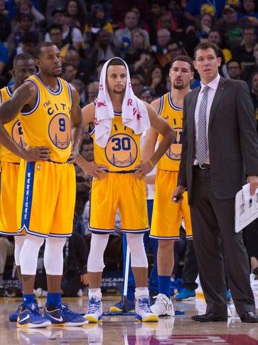 Golden State Warriors interim head coach Luke Walton
