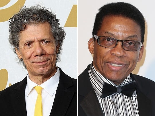Chick Corea, left, and Herbie Hancock will perform on April 18 at the Palladium.