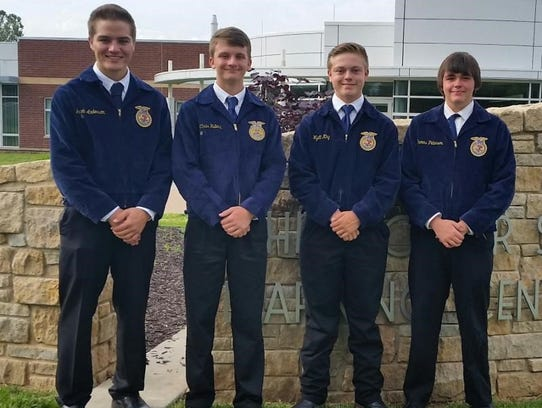 Branson FFA officers who attended the conference on