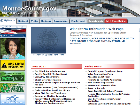 The Monroe County website