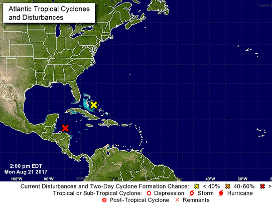 Tropical weather outlook in the Atlantic as of 2 p.m.
