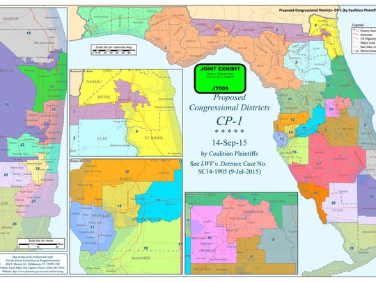 Congressional redistricting map adopted by Judge Terry