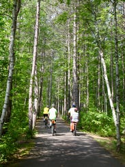 The Heart of Vilas County Bike Trail travels for 45