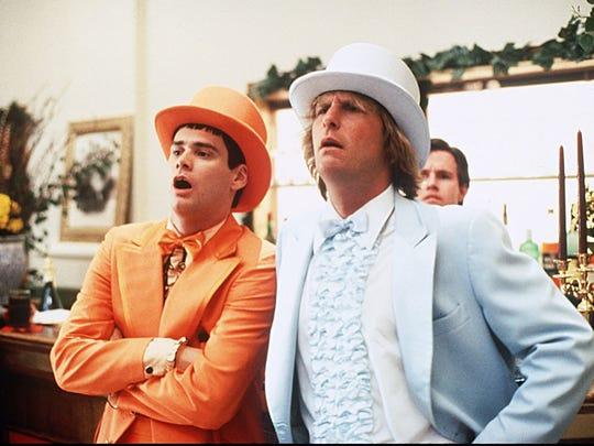"""Jim Carrey, let, and Jeff Daniels in """"Dumb and Dumber."""""""