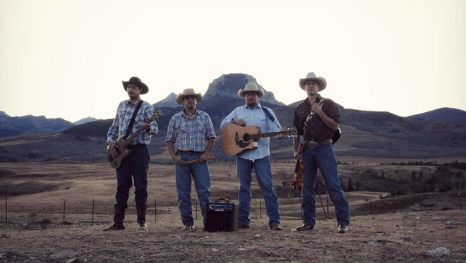 The members of the Crawford Brothers Band are, from left, Vernon Crawford, Justin Crawford, Joe Crawford and Nick Crawford.