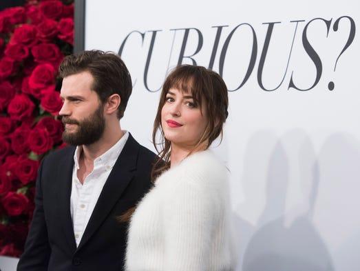"""Fifty Shades of Grey"" co-stars Jamie Dornan and Dakota"