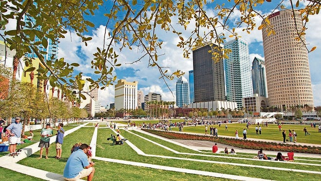 This is the fifth time Tampa has hosted the Super Bowl, and most of the NFL Experience festivities will take place at the refurbished Curtis Hixon Waterfront Park, which is part of the 2.6- mile Tampa Riverwalk.